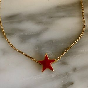Jewelry - Gold filled stunning red star necklace